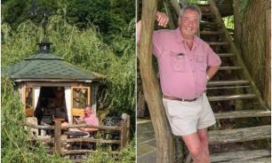 Как пенсионер на дереве дом построил