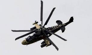 Российский Ка-52 показали за работой в Сирии