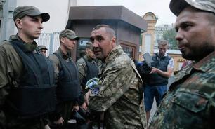 """МВД Украины обвинило """"Правый сектор"""" в использовании ребенка в качестве живого щита"""