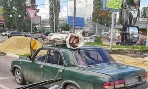 В Воронеже покойника отвезли в морг в мешке на крыше автомобиля