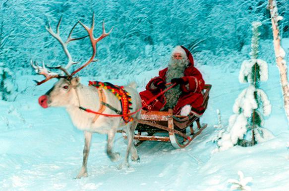 Ученый объяснил, почему у оленя Санта Клауса светится нос