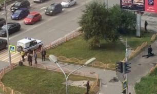 Появились видео нападения и ликвидации преступника в Сургуте