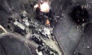 """Минобороны РФ отчиталось об очередном ударе по лагерю боевиков """"Исламского государства"""". ВИДЕО"""