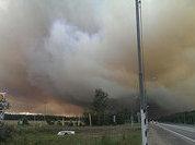 Густой смог от пожаров повис над трассой под Тверью