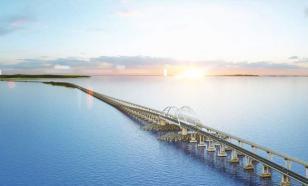 Ночной Крымский мост будет сиять цветами российского триколора