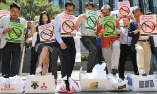 В Южной Корее объявили бойкот японской продукции