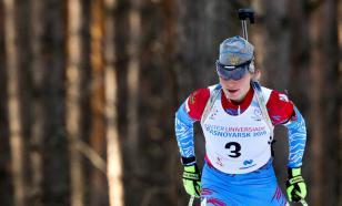 Российская биатлонистка допустила десять промахов в гонке Кубка IBU