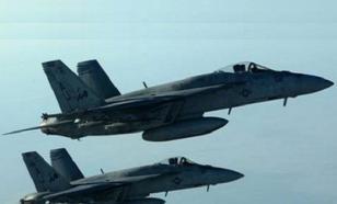 В небе над Атлантикой столкнулись два американских самолета F-18
