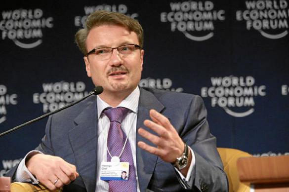 """Греф назвал Сбербанк в разговоре с Путиным """"кредитной машиной"""""""