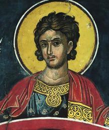 Мученик Нестор - христианин с копьем