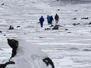 Вулканологи осмотрели вулкан Плоский Толбачик с вертолета