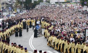 Участники Крестного хода встретились в центре Киева