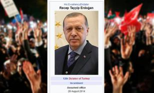 """Википедия"" нарекла Эрдогана ""турецким диктатором"""