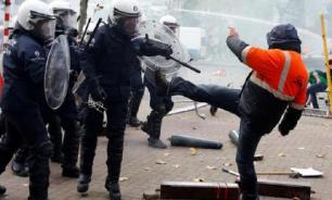 В Брюсселе начались массовые беспорядки из-за карантина