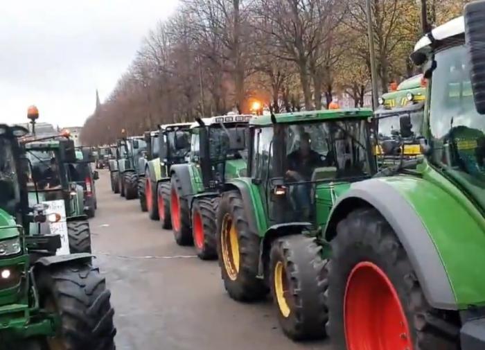 Сотни тракторов и грузовиков перекрыли дороги: в Гааге бастуют фермеры