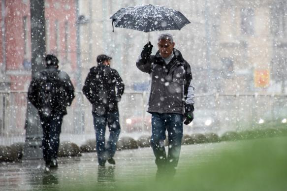 На выходных в Москве возможны дождь и мокрый снег