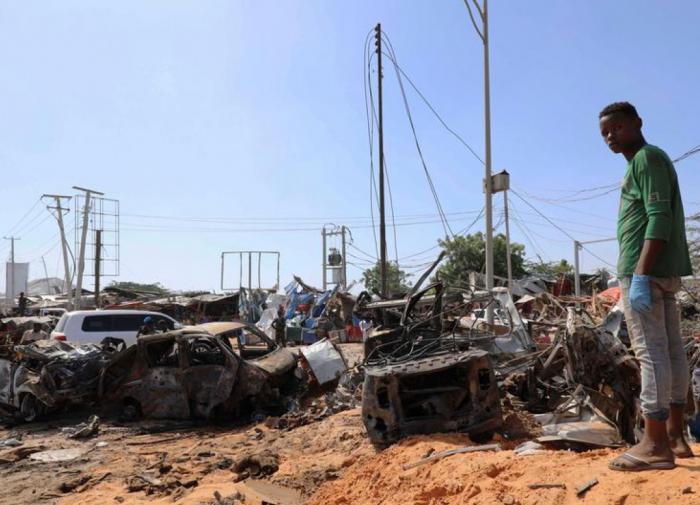 В столице Сомали произошёл мощный взрыв