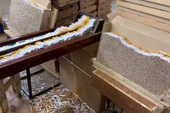Подпольный завод по производству сигарет закрыли в Ленобласти