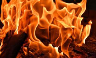 Под Самарой загорелся цех по переработке резины