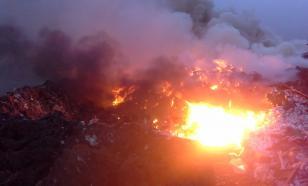 На самой крупной свалке Еревана произошел пожар