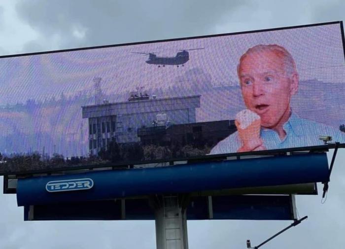 В США хакеры разместили фотожабы с Байденом на билбордах
