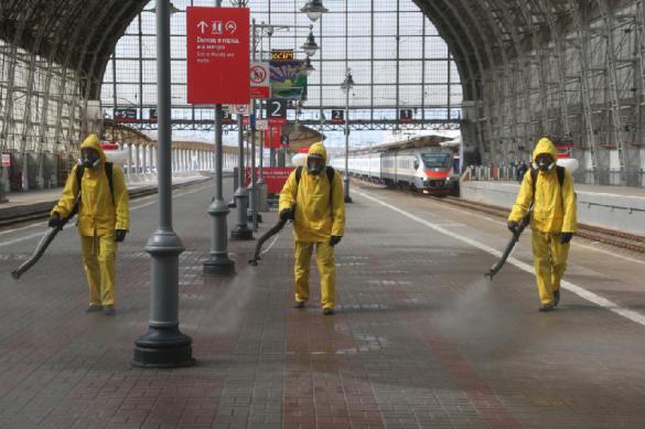Бойцы МЧС продезинфицировали все вокзалы столицы