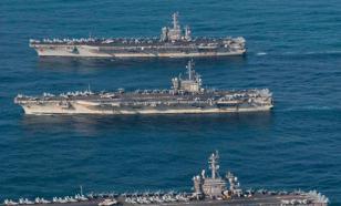 ВМС США показали видео появления сразу трех американских авианосцев у берегов Кореи