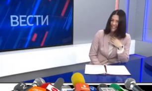Телеведущая не сдержала смеха в репортаже о льготах. ВИДЕО