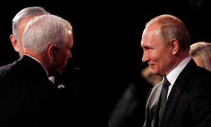 Пенс сам подошел к Путину, чтобы поздороваться