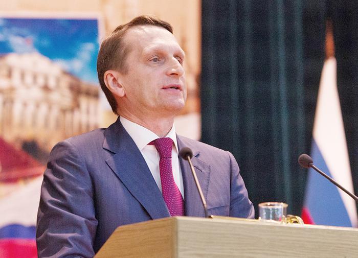 Нарышкин: в нынешних белорусских событиях США играют ключевую роль