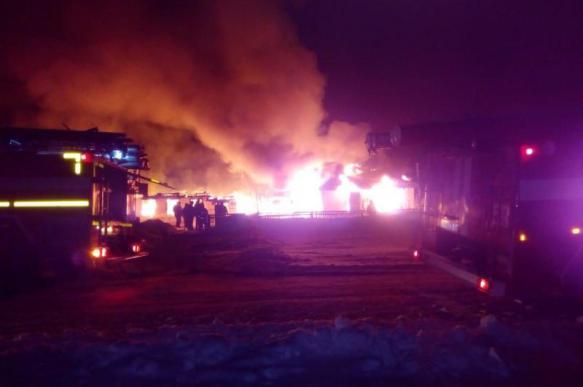 Сгорела школа в Новосибирской области