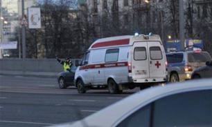 ЧП в центре Москвы: Отвалился кусок фасада дома. Есть пострадавшая