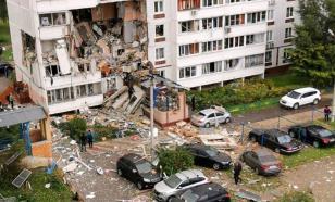 Жилой дом в Ногинске спустя сутки после взрыва газа