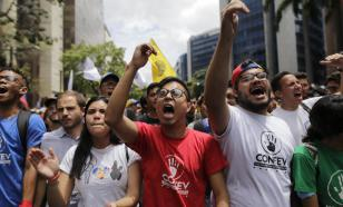 Жители Венесуэлы протестуют против американских санкций