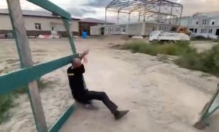 Пьяный сторож упал, увидев приморского губернатора на стройке