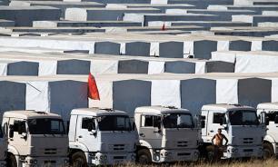 Гуманитарная колонна МЧС отправлена в Новороссию