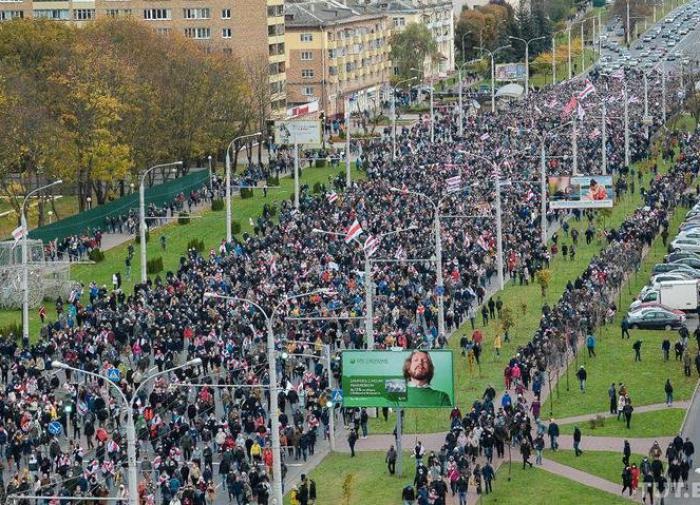 Воскресенье в Белоруссии: протесты, задержания, резиновые пули