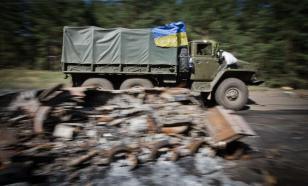 Грузовик с бойцами ВСУ подорвался на мине в Донбассе