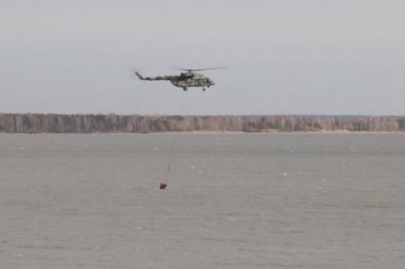 К тушению пожаров в Ульяновской области привлекли армейский вертолет