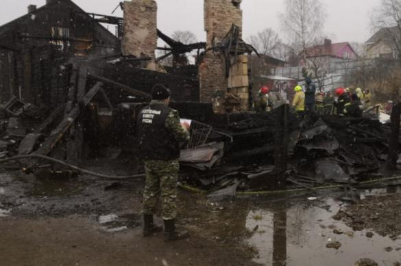 СК завел дело после пожара в Выборге, где погибли восемь человек