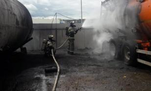 В Татарстане загорелась автомобильная заправка