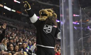 Венгерский хоккеист разбил стекло во время празднования гола