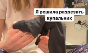 """Блогер Диденко разрезала купальник со """"смертельной вечеринки"""""""