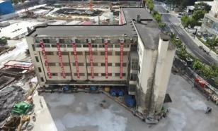 """Пятиэтажное здание в Шанхае """"перешло"""" на новое место"""