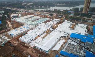 В Китае за 10 дней построили больницу для больных коронавирусом. ВИДЕО