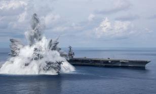 Взрывные испытания американского авианосца вызвали землетрясение у берегов США