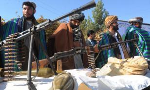 Сторонники талибов* провели имитацию похорон США и НАТО