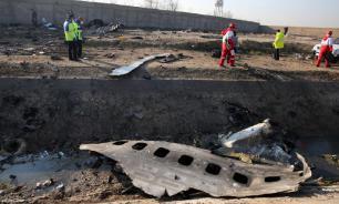 Украинский самолёт в Тегеране загорелся ещё до падения