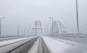 Крымский мост впервые был перекрыт из-за непогоды
