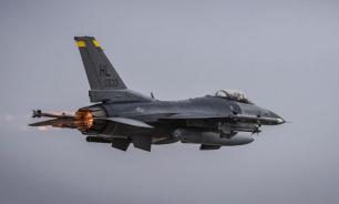 Американский F-16 потерял ракету во время учебного полета над Японией